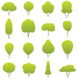 Trees collection Royalty Free Stock Photos