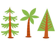 Trees collection Royalty Free Stock Photography