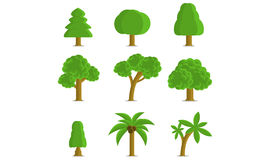 Trees Collection Stock Photography