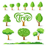 Trees collections set design Stock Image