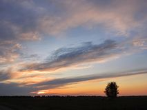 Colorful sunset, Lithuania Royalty Free Stock Images