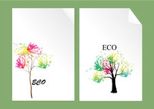 Trees,colorful trees in autumn vector illustration Stock Image
