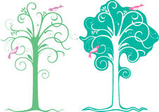 Trees decorative Royalty Free Stock Photo