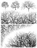 Trees design elements Royalty Free Stock Images