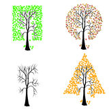 Trees of different geometric shapes. Royalty Free Stock Photo