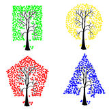 Trees of different geometric shapes. Stock Image