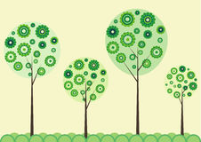 Trees from different rounds Royalty Free Stock Photo