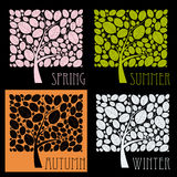 Trees during different seasons Stock Photography