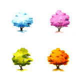 Trees in different seasons Royalty Free Stock Image