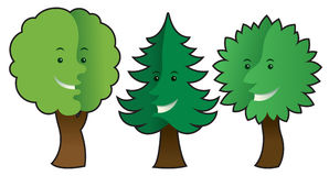 Trees with emotions Stock Photo