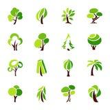 trees för samlingsdesignelement Arkivbilder