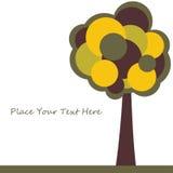 trees för text för kortdesign stylized Royaltyfri Bild