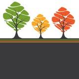 trees för text för kortdesign stylized Royaltyfria Foton