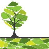 trees för text för kortdesign stylized Royaltyfri Foto