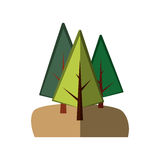 Trees forest field emblem. Vector illustration design Royalty Free Stock Photo