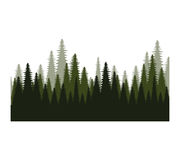 Trees forest field icon Stock Images