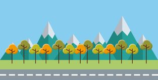 Trees forest field landscape. Illustration design Royalty Free Stock Photography