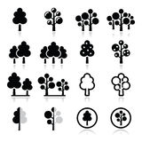 Trees, forest, park  icons set Royalty Free Stock Images