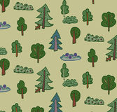 Trees forest pattern Stock Image