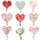 Trees in the form of heart. Royalty Free Stock Images
