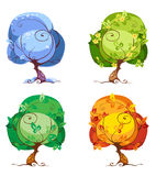 Trees - the Four Seasons Stock Image