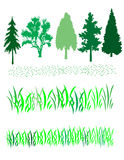 Trees and Grass Royalty Free Stock Photos