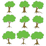 Trees with green foliage. Raster. Raster Stock Images