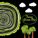 Trees grow up. Tree rings. Royalty Free Stock Image