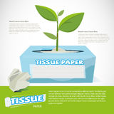 Trees growing on tissue paper box. eco paper -  Stock Photography