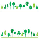 Trees grunge diversity set  white background for your text,c Stock Image