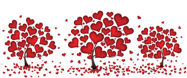 Trees from hearts stock illustration