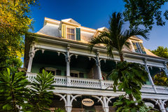 Trees and a house in Key West, Florida. Stock Image