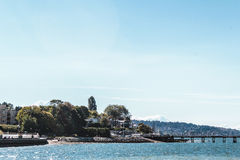 Trees and Houses at Kitsilano Beach in Vancouver, Canada Stock Photography