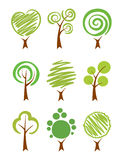 Trees Icon set Royalty Free Stock Image