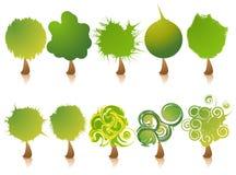Trees icon set. Elements for design. Vector illustration stock illustration