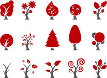 Trees Icon Set Royalty Free Stock Photography