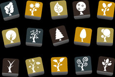 Trees Icon Set Royalty Free Stock Photos