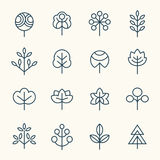 Trees icon set Stock Photography