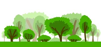 Trees Icon vector illustration royalty free stock images