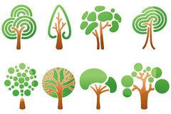 Trees icons. Set. Vector illustration stock illustration