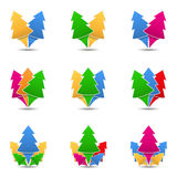 Trees Icons Stock Photo