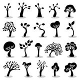Trees icons set Royalty Free Stock Images