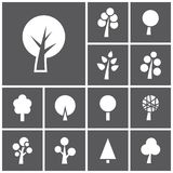 Trees icons Stock Images