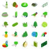 Trees icons set, isometric style. Trees icons set. Isometric set of 25 trees vector icons for web isolated on white background Royalty Free Stock Photography