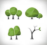Trees icons Stock Photography