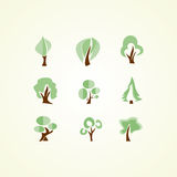Trees icons Royalty Free Stock Photo