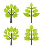 Trees icons Royalty Free Stock Images
