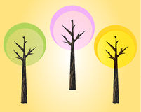 Trees. Illustration of a  trees Stock Photography