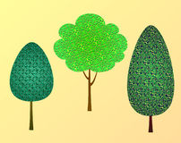 Trees. Illustration landscaped collection vectornn royalty free illustration