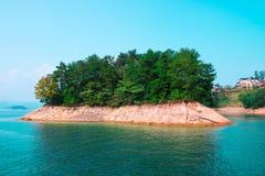 Trees on island Stock Photography